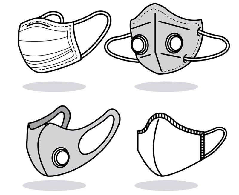 рисунки разных масок