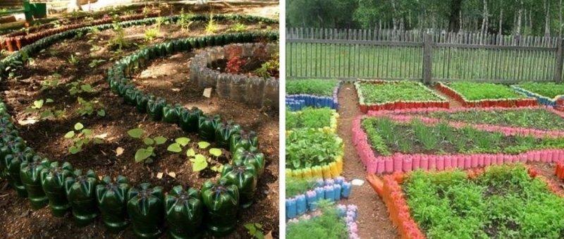 поделки из пластиковых бутылок для сада