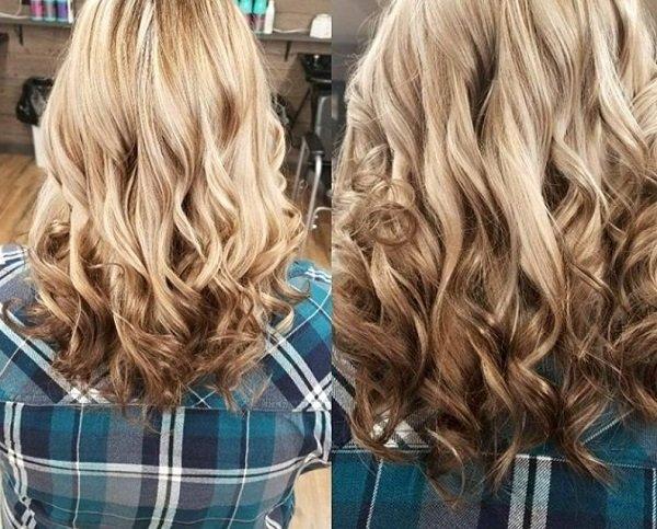покраска балаяж на светлые волосы