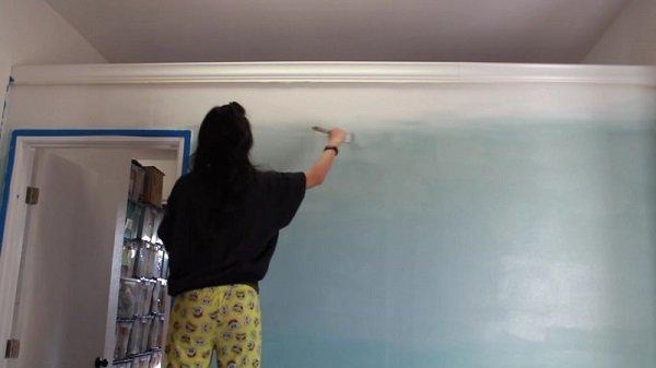 покраска стен сочетание цветов