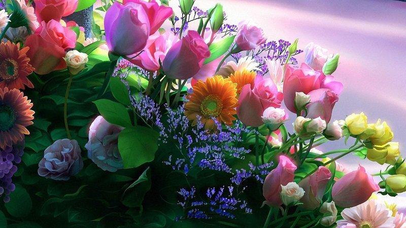 количество цветов букет