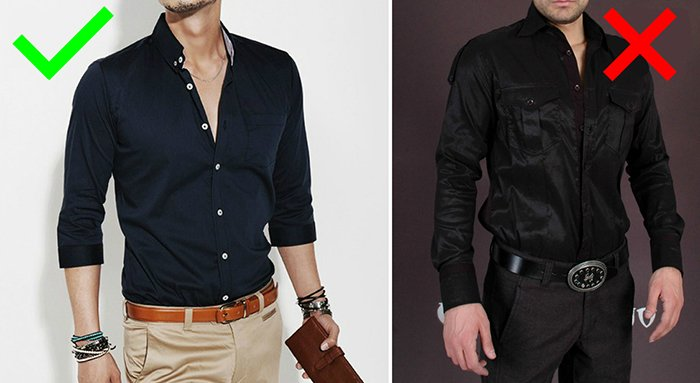 подбор рубашки для мужчины