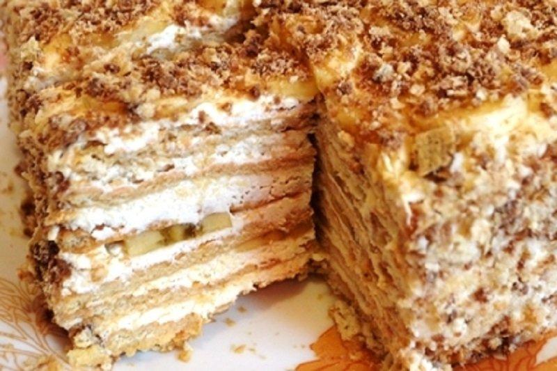 торт без выпечки творожный