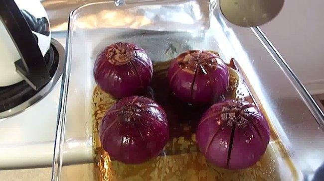 приготовление водной лилии из лука