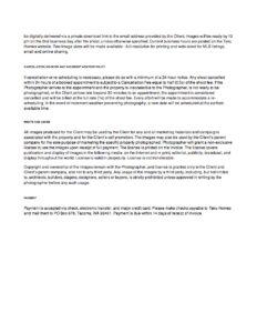 Taku Homes Photography Agreement 2/2