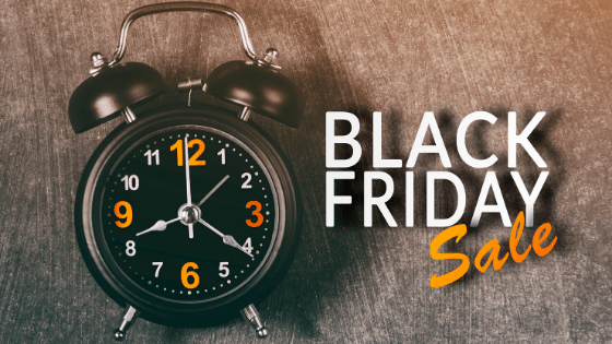 Promote urgency during black Friday