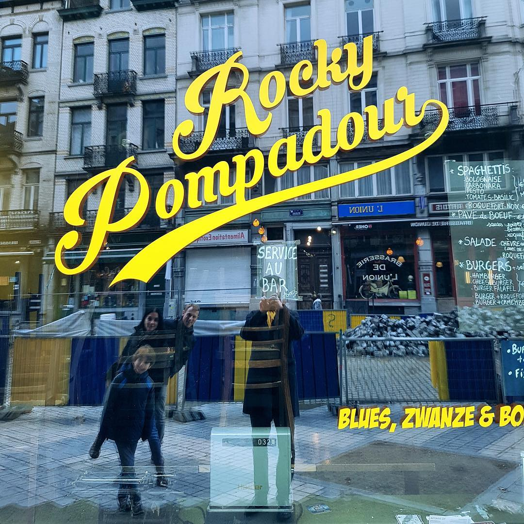 Only in Brussels : Rocky Pompadour.
