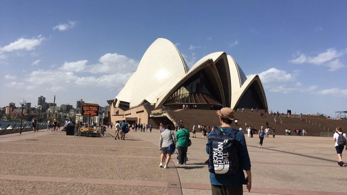 【オーストラリアハーフラウンド 20日 友がシドニーに到着】