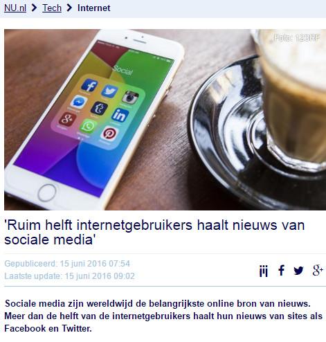 NUnl bericht social media 150616