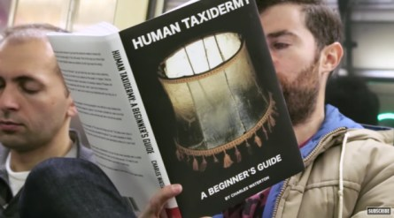 fake-book-covers-subway-prank-human-taxidermy-a-beginners-guide