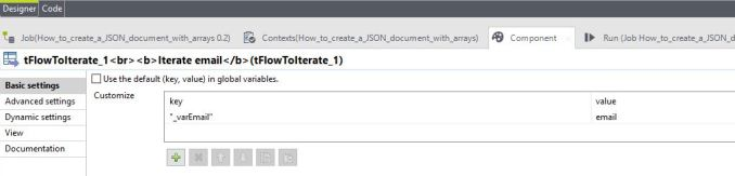 tFlowToIterate add fieldValues