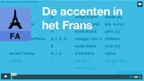 accenten in het Frans