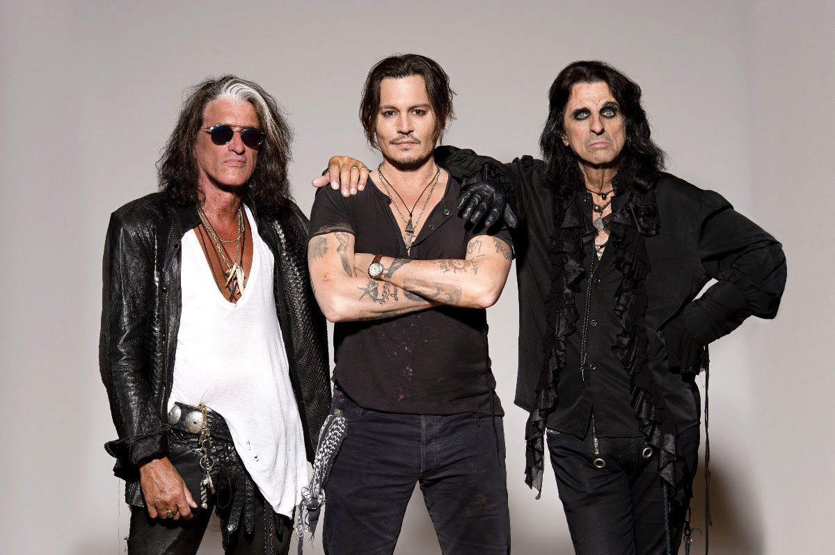 Joe Perry, Johnny Depp & Alice Cooper of The Hollywood Vampires