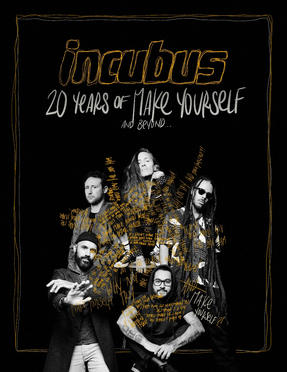 Incubus announces 20th anniversary of 'Make Yourself' tour