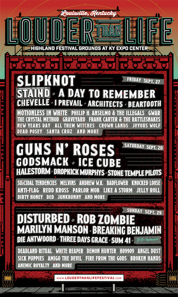 Louder Than Life Festival Lineup