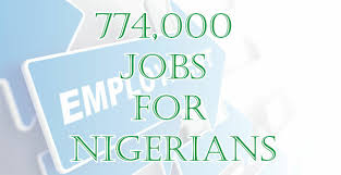 774,000 Special public work jobs out