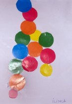 Felicitare - colaj din buline de hartie