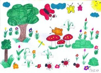 Desen - peisaj de primăvară