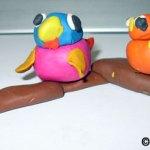 Păsărele - modelaj din plastilină