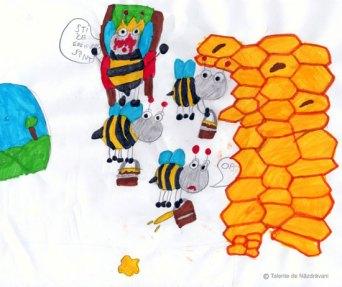 Desen cu albine