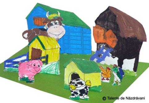 Ferma cu animale - decupaj