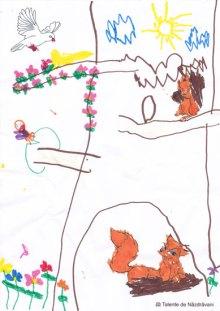 Animalele din pădure - desen