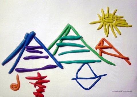 Piramidele egiptene. Machetă - modelaj