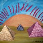 Piramidele egiptene. Machetă - colaj.