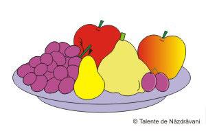 Farfurie cu fructe - model.