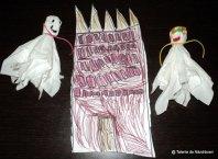 Fantome de Halloween din șervețele