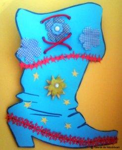 Cizma lui Mos Nicolae. Colaj cu ghetuță decorată