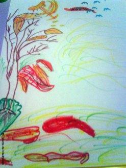 Desen inspirat de poezii de toamna