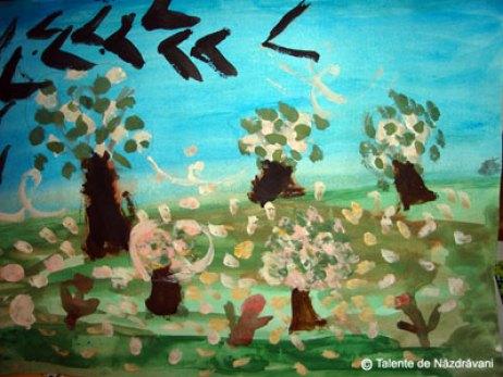Livada înflorită - pictură