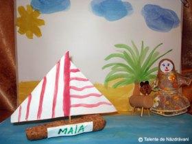Barcă din dop de plută