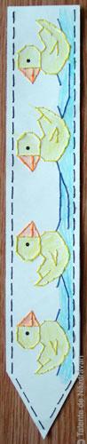 Semn de carte cusut pe carton