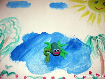 Broască din dop de plută