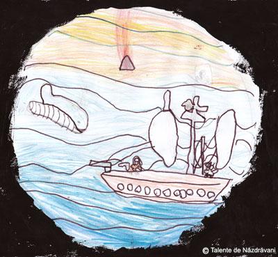 Andrei H., Bucureşti, clasa I Am văzut dintr-un submarin un vârf de vulcan, o corabie de piraţi şi o balenă albastră.