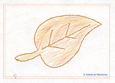 Frunză toamnă - cusături