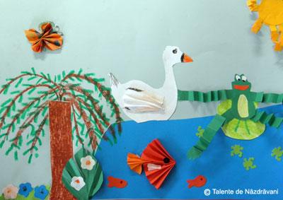 Acordeon sau scara pisicii, element de construcție pentru figurine creative