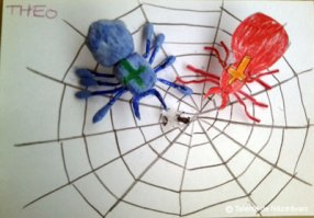 Păianjeni pe pânză - idei creative