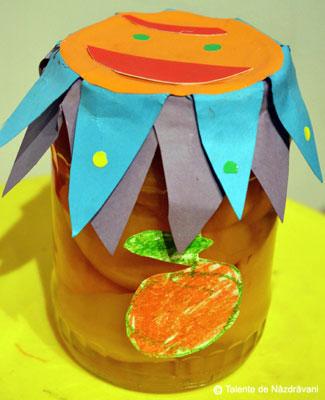 Borcan de conserve decorat creativ