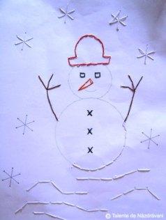 Om de zăpadă cusut - cusături