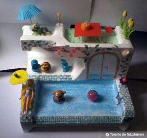 Mara Daria U.,Bucuresti, clasa a IVa  Am facut o casa cu piscina, pe care o consider ideala pentru o vacanta de vara.
