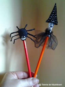 Creioane decorate de Halloween