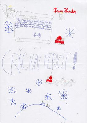 Andrei H., Bucuresti, clasa III Eu îţi scriu mai dinainte / Că sunt băieţel cuminte. (Otilia Cazimir, Scrisoare)
