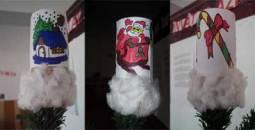Decoratiuni din tub de hartie igienica Lavinia J., Ceptura de Jos, 5 ani Varf de brad