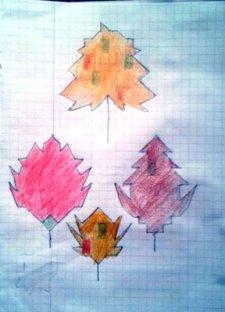 Frunze - desen pe pătrățele