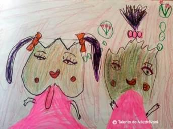 Dialog între frunze de toamnă- desen sau pictură