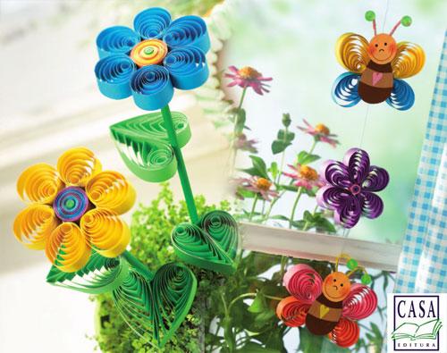 Quilling - flori, fluturi