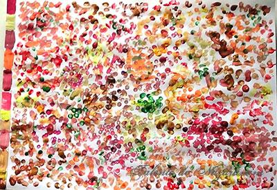 Pictură - pădure toamna, amprentare